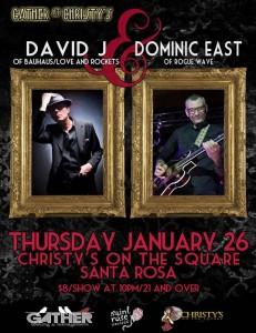 David J concert Flyer, Santa Rosa, 2012 January