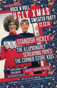 Rock n Roll ugly Xmas sweater party