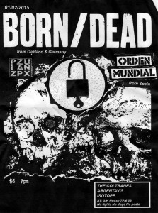 Poster for Born/Dead, Orden Mundial, The Coltranes