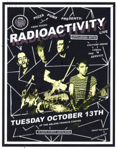 Poster for Radioactivity, Culture Abuse, Lunch concert