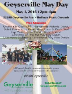 May Day Festival - Geyserville, CA  - May 1, 2016