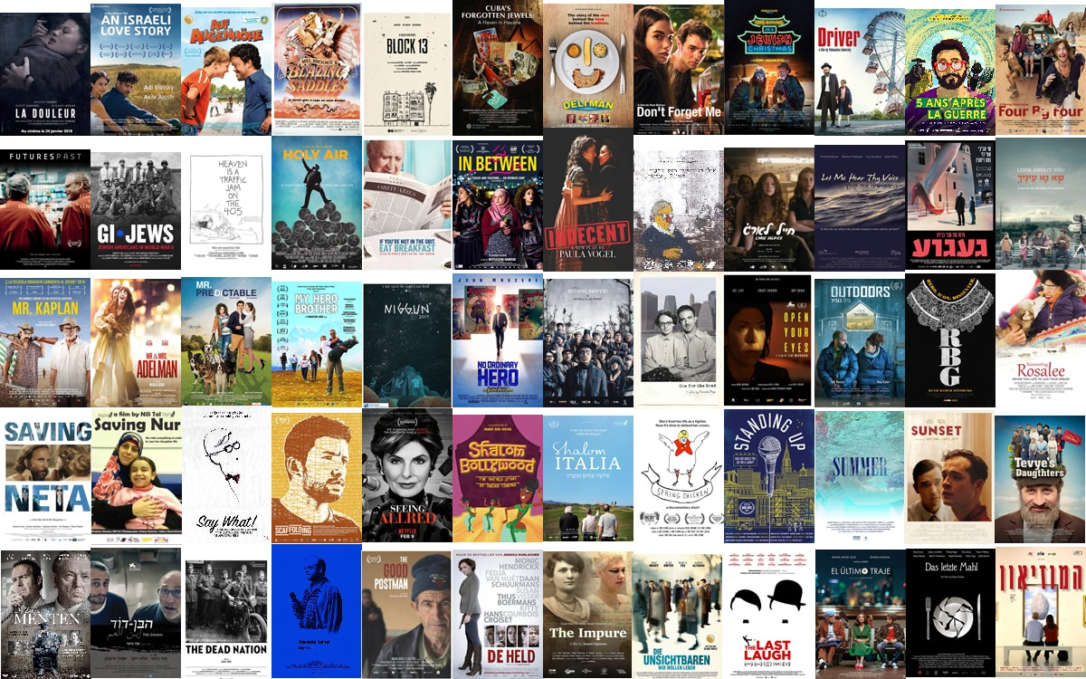 The 113 movies added to JewishFilmFestivals.org in April 2018