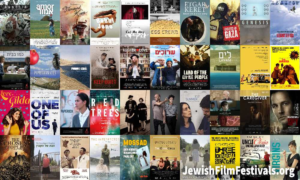 Covers of the 64 movies added to jewishfilmfestivals.org in September 2018