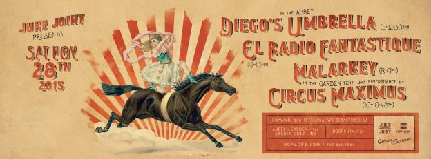 Diego's Umbrella & El Radio Fantastique (Sebastopol, 2015-11-28)