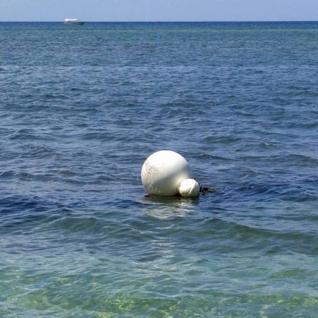 Sphere #120: Buoys off the shore of Roatan, Honduras