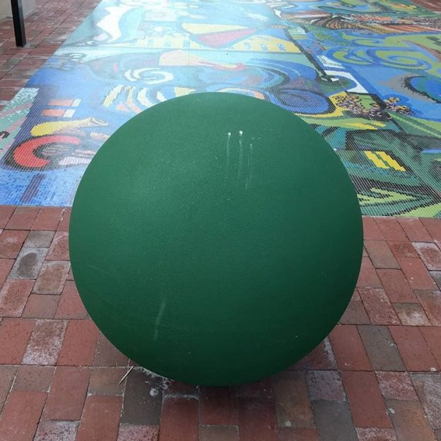 Sphere #131: Street sphere in Miami's Little Havana
